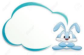 cute cartoon bunny rabbit frame design element royalty