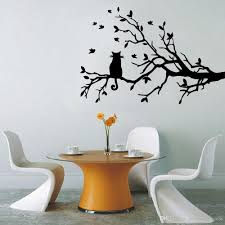 cat tree branch birds vinyl wall sticker art decorative packing vinyl sticker low viscosity transmembrane instructionx