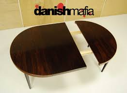 Oval Dining Table With Leaves Mid Century Danish Rosewood Round Dining Table Danish Mafia