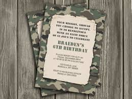 printable camo birthday invitation camouflage army gi joe