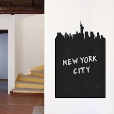 walls need love cityscapes for interiors touch of modern new york chalkboard skyline wall decal