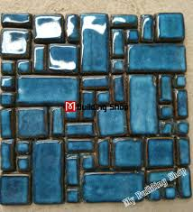 mosaic kitchen backsplash hand craft blue porcelain mosaic swimming pool tile pcmt068