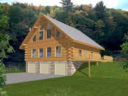 A Frame Style Homes by Log House Plans With Garage