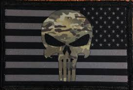 American Flag Skull Subdued Multicam Punisher American Flag Morale Patch U2013 Redheaded T