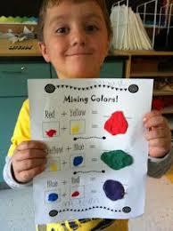 mixing colors mouse paint rainbow unit activity teaching