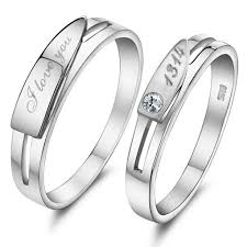 Personalized Engraved Rings 27 Best Personalized Engravable Couple Rings Images On Pinterest