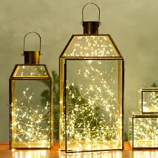 the easiest brightest holiday table centerpiece lights holiday