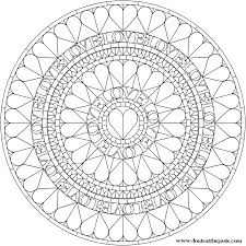 love heart mandala mandala coloring pages pattern mandala free