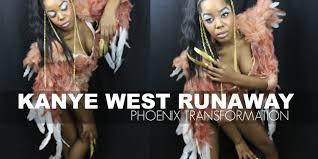 Phoenix Halloween Costume Kanye Runaway Phoenix Transformation Diy Halloween Costume