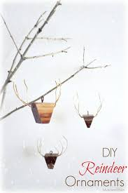 diy wooden reindeer ornaments my altered state