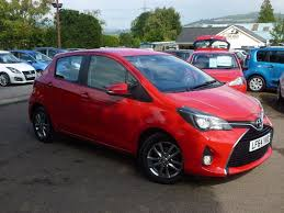 used toyota yaris red for sale motors co uk