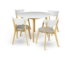 White Lacquer Dining Table by Arthur 5 Piece Dining Set Loungelovers