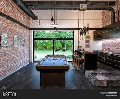 Style My Room by 3d Illustration Of Interior Design Loft Style Kitchen And