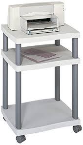 bureau imprimante safco meuble de bureau roulant pour imprimante gris amazon fr