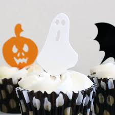 halloween mini cake toppers set of six by rocket and fox