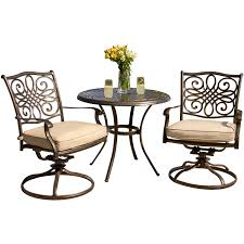 round bistro table outdoor dining room outstanding hanover traditions 3 piece wrought iron