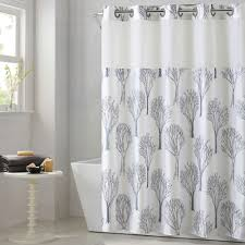 modern tree shower curtain with liner