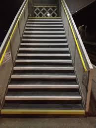 flooring cement stair with non slip stair treads for safety stair