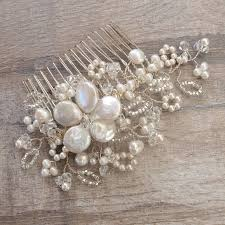 pearl hair accessories lace pearl and bridal hair comb by jewellery made by me