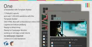 one email newsletter with template builder by everpress themeforest