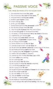 english teaching worksheets passive voice