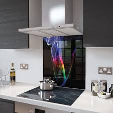 martini rainbow 90cm x 65cm digital print glass splashback rainbow smoke
