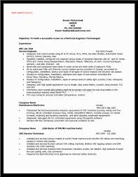Sample Resume For Iti Electrician by 100 Example Electrician Resume Sample Resume For