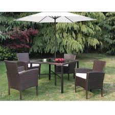 Patio Table Chairs by 6 Piece Outdoor Patio Table Set With Umbrella