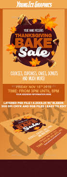 thanksgiving bake sale flyer template by youngicegfx graphicriver