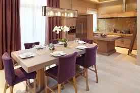 chaise pour salle manger chaise avec coussins prune pour salle à manger déco