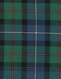 Scotch Plaid Robertson Hunting Tartan Fabric An Ancient Tartan In Blue Green