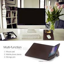 Samsung Desk 3 In 1 Qi Wireless Charging Pad Desktop Stand Mouse Pad For