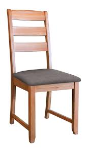 Light Oak Dining Chairs Ladder Back Oak Dining Chair With Grey Fabric Seat Pad Waverly
