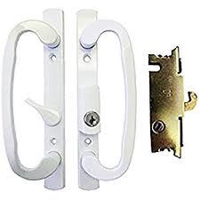 Keyed Patio Door Handle Sliding Glass Patio Door Handle Set With Mortise Lock White