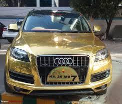 Audi Q7 Gold - pics of weird wacky u0026 funny stickers badges on cars bikes