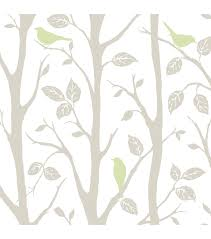 wallpops nuwallpaper gray and green sitting in a tree peel and