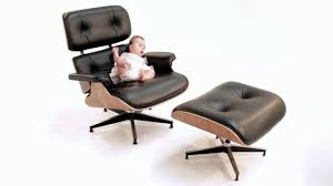 furniture eames lounge chair replica and ottoman with black