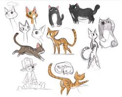 cat sketches by victoriaying on deviantart