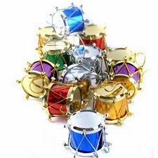 wholesale newly design christmas tree ornaments small drums gift