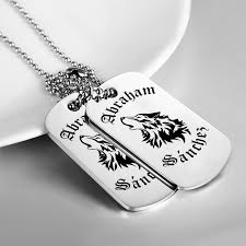 personalized dog tag necklace tribal wolf personalized dogtag necklace western wear