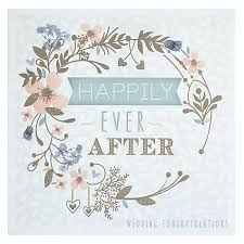 wedding congratulations buy happily after floral circle wedding congratulations card
