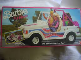 vintage barbie jeep amazon com barbie funrider 9435 1990 toys u0026 games