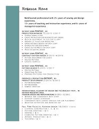 pattern maker resume rebecca rene resume 2017