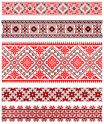 ukrainian ornaments illustrations of ukrainian embroidery ornaments patterns frames