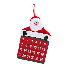 42 2 27cm christmas countdown calendar non woven fabric red fun