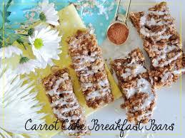 healthy carrot cake breakfast bars recipe sofabfood