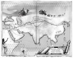 Aa Route Map Silk Road Trade Routes Map Store 44 Reps