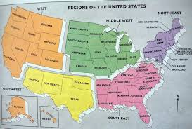Midwest United States Map by 50 States And Capitals Lessons Tes Teach
