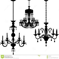 antique chandelier antique chandelier silhouettes eps stock photos image 14688503