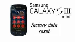 reset factory samsung s3 mini galaxy s iii mini i8190 hard factory reset screen lock